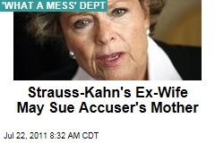 Dominique Strauss-Kahn's Ex-Wife Brigitte Guillemette May Sue Tristane Banon's Mother, Anne Mansouret