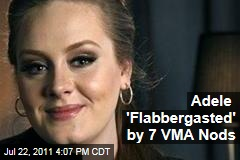 Adele Surprised by 7 VMA Nods