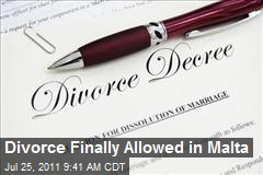 Divorce Finally Allowed in Malta