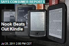 Consumer Reports Says Barnes & Noble Nook Better e-Reader Than Amazon Kindle