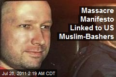 Massacre Manifesto Linked to US Muslim-Bashers