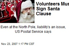 Volunteers Must Sign Santa Clause