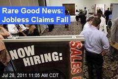 Rare Good News: Jobless Claims Fall