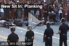 Kaskade Riot: Ravers Plank In Front of Cops