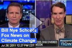Bill Nye Schools Fox News Anchor Jon Scott on Climate Change (Video)