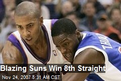 Blazing Suns Win 8th Straight