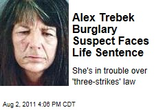 Alex Trebek Burglary Suspect Lucinda Moyers Faces 25 to Life Because of Three Strikes Law