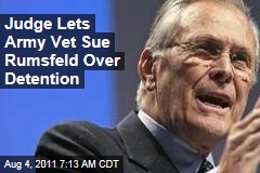 Judge Lets US Detainee Sue Donald Rumsfeld Over Torture