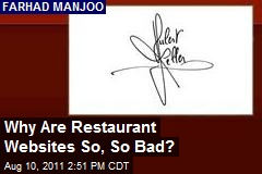 Why Are Restaurant Websites So, So Bad?