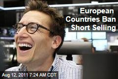 World Stock Markets: European Stocks Rise Amid Short-Selling Ban