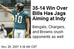 35-14 Win Over Bills Has Jags Aiming at Indy