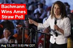 Bachmann, Pawlenty, Paul Vie for Ames Win