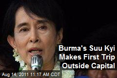 Burma's Suu Kyi Makes First Trip Outside Capital