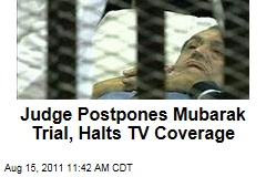 Judge Postpones Hosni Mubarak Trial, Halts Live TV Coverage