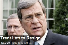 Trent Lott to Resign