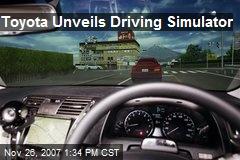 Toyota Unveils Driving Simulator