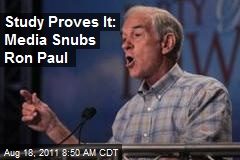 Study Proves It: Media Snubs Ron Paul