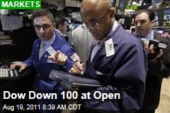 Markets: Dow, S&P 500, Nasdaq Down at Open