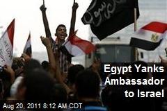 Egypt Yanks Ambassador to Israel