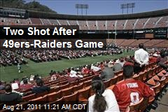 Two Shot After 49ers-Raiders Game