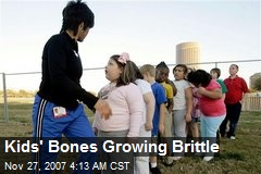 Kids' Bones Growing Brittle