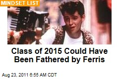 Beloit College Mindset List: Class of 2015 Could Have Been Fathered by Ferris Bueller