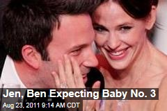 Jennifer Garner, Ben Affleck Expecting Baby No. 3