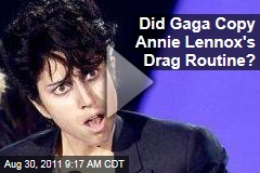 VIDEO: Did Lady Gaga Copy Annie Lennox's Drag Routine?