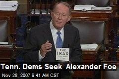 Tenn. Dems Seek Alexander Foe
