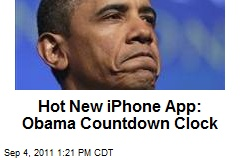 Hot New iPhone App: Obama Countdown Clock