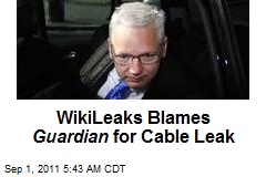WikiLeaks Blames Guardian for Cable Leak