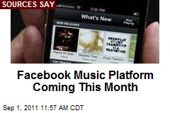 Facebook Music Platform Coming This Month