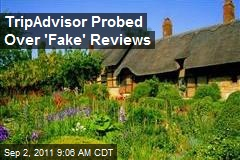 TripAdvisor Probed Over 'Fake' Reviews