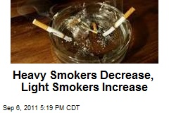 Heavy Smokers Decrease, Light Smokers Increase