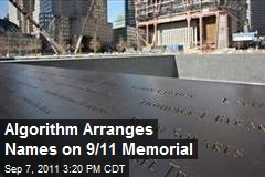 Algorithm Arranges Names on 9/11 Memorial