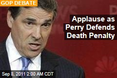 Perry Touts His State's 'Ultimate Justice'