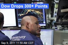 Dow Drops 300+ Points