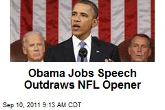 Obama Jobs Speech Outdraws NFL Opener