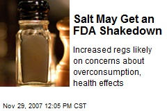 Salt May Get an FDA Shakedown