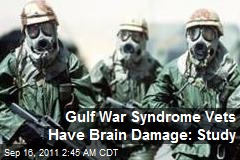 Gulf War Syndrome Vets Have Brain Damage: Study