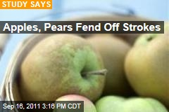 Apples, Pears Reduce Chance of Stroke: Dutch Study