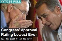 Congress' Approval Rating Lowest Ever