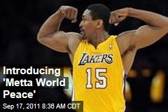 Metta World Peace: Ron Artest Officially Changes His Name