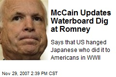 McCain Updates Waterboard Dig at Romney