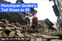 India Earthquake: At Least 55 Dead, Rescue Efforts Hampered by Rain, Landslides