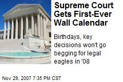 Supreme Court Gets First-Ever Wall Calendar
