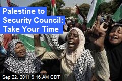 Palestine to Security Council: Take Your Time