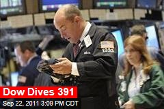 Dow Drops 391 in Global Selloff