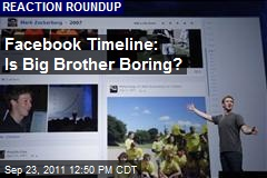 Facebook Timeline: Is Big Brother Boring?