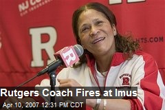 Rutgers Coach Fires at Imus